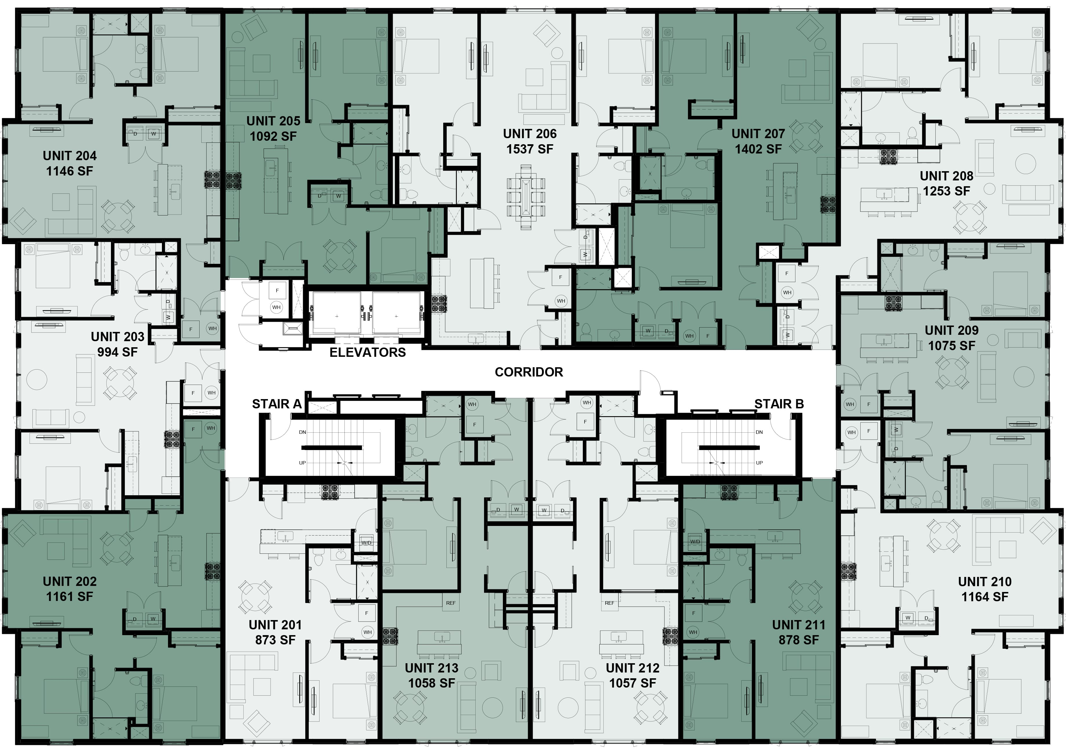 Plans for the Second Floor